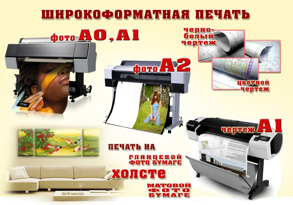 печать постеров и чертежей порогов