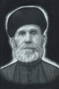 Гравировка портрета на камне образец №1